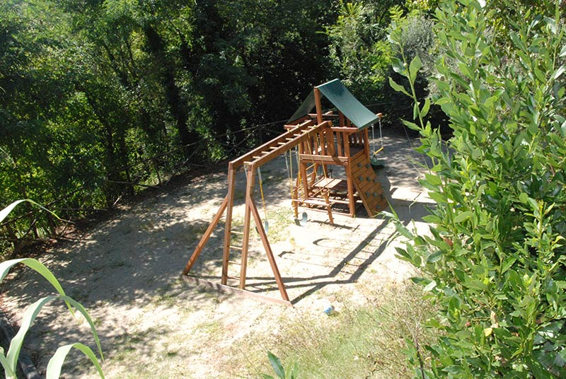 Children's playground and area in Tuscany