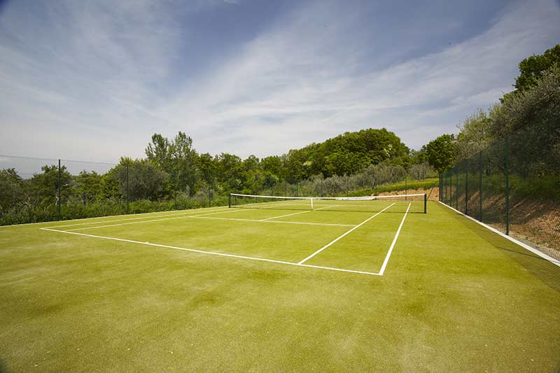 Tennis Court at Villa Marae Tuscany