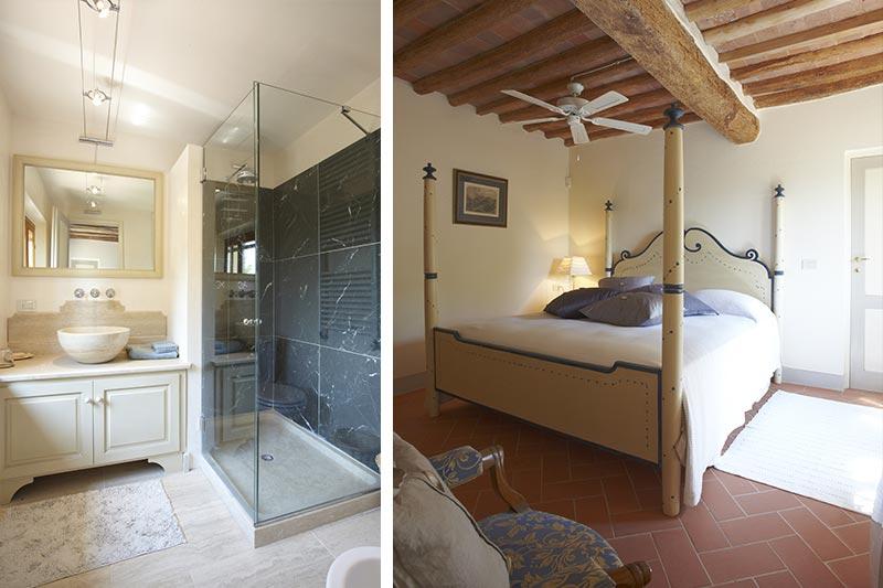 Pisa - Luxury bedroom at Villa Marae